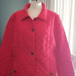J.Jill Red Quilted Jacket